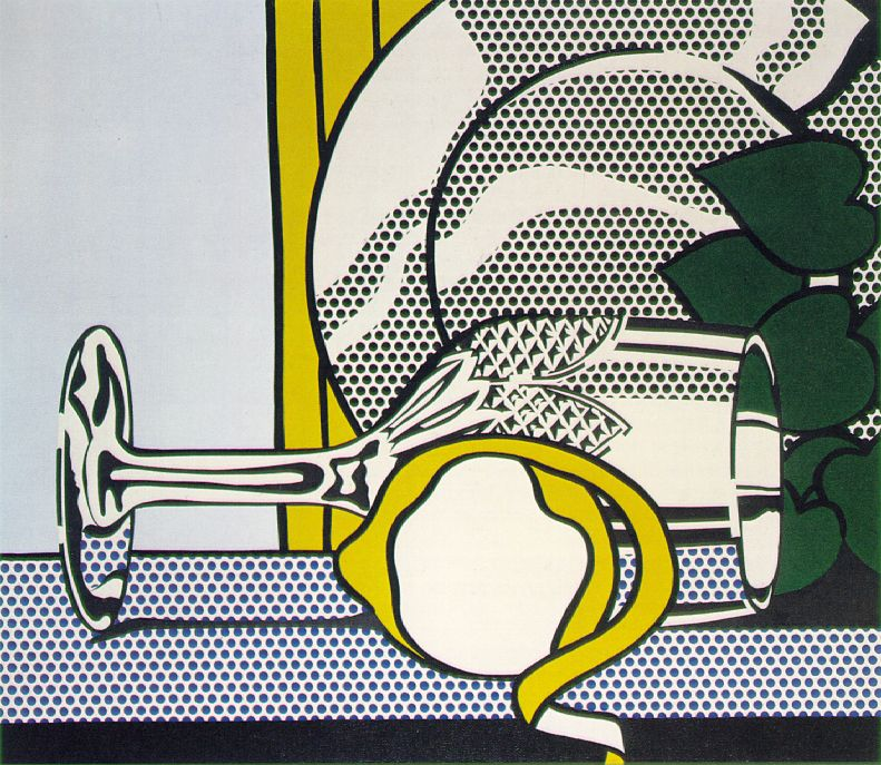 Roy Lichtenstein - 'Still Life with Glass and Lemon' 1972