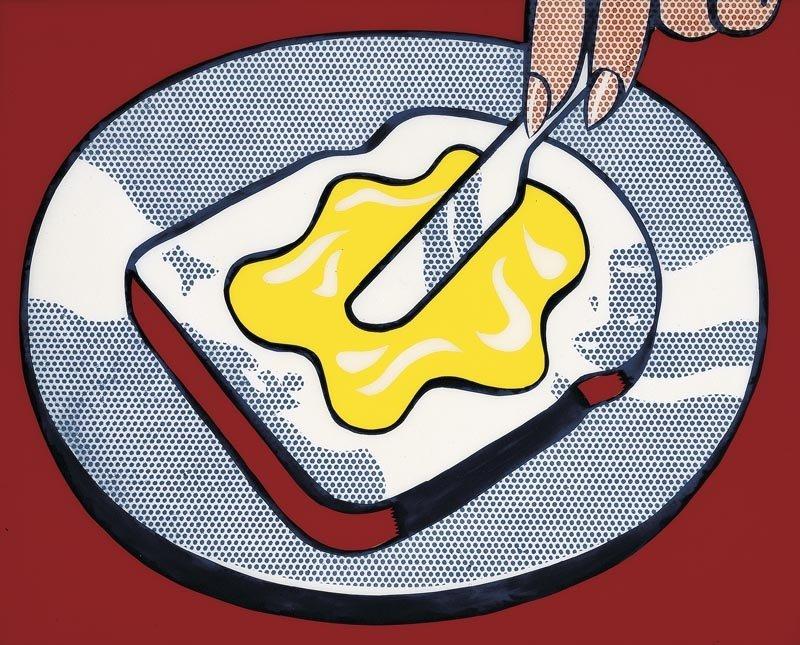 Roy Lichtenstein - 'Mustard on White' 1963