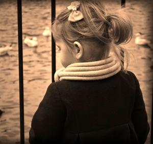 Blogged 21/02/11.  Unknown little girl in Kelsey Park, Beckenham
